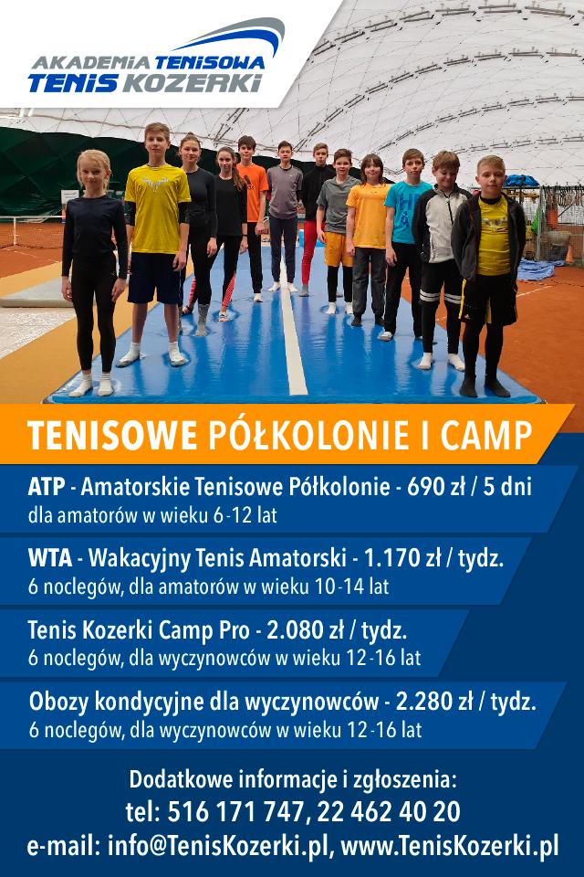 Półkolonie i campy z Akademią Tenisową Tenis Kozerki (Lato 2019)