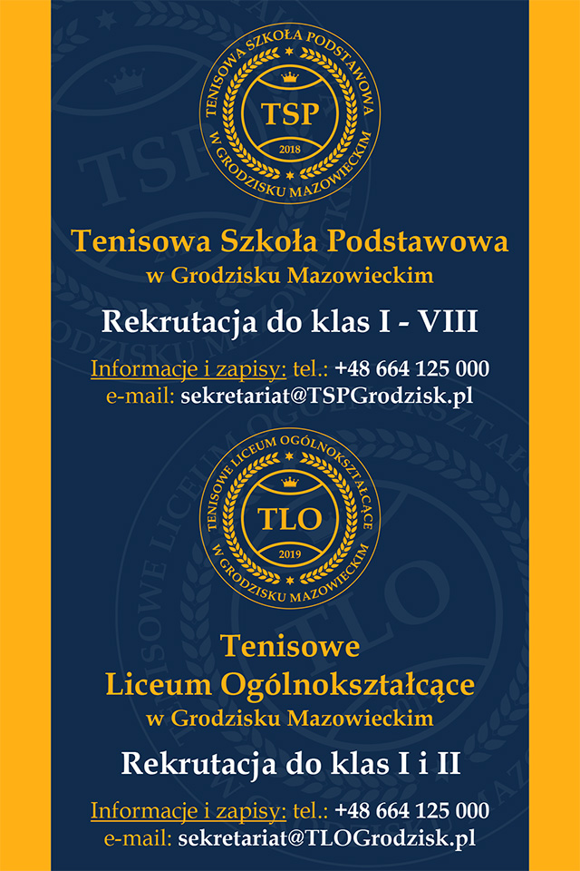 Rekrutacja do Szkoły Tenisowej w Grodzisku Mazowieckim