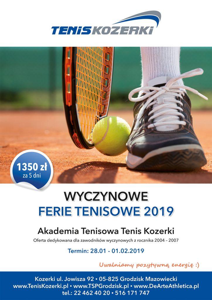 Wyczynowe ferie tenisowe 2019