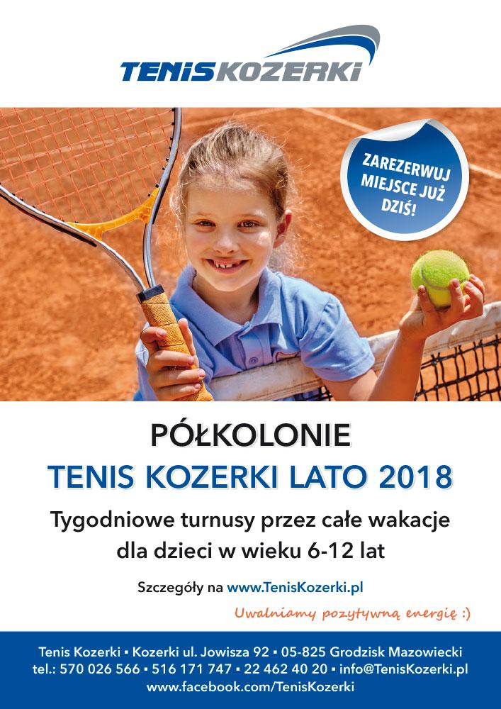 Półkolonie w Tenis Kozerki - Lato 2018